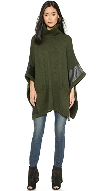 Haute Hippie Turtleneck Poncho
