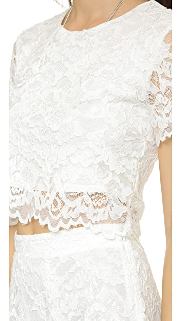 Haute Hippie Lace Crop Top