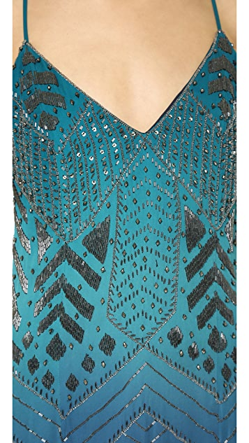 Haute Hippie Ombre Beaded Dress