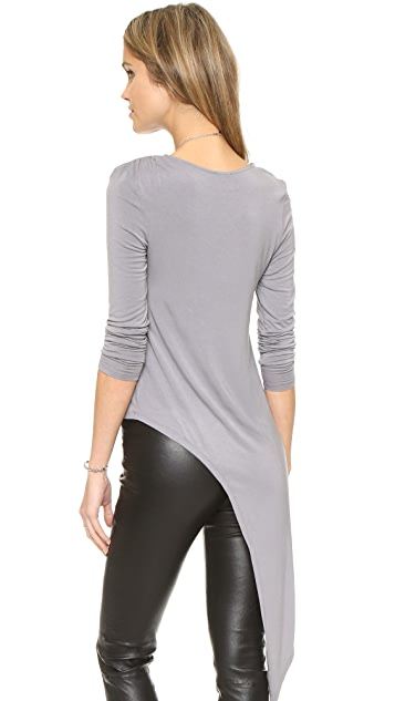 Haute Hippie Asymmetrical Long Sleeve Shirt