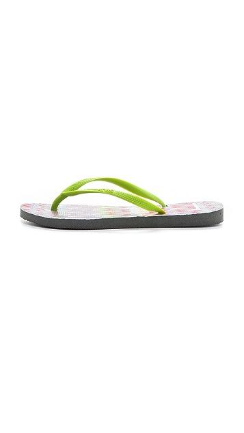 Havaianas Missoni + Havaianas Slim Flip Flops