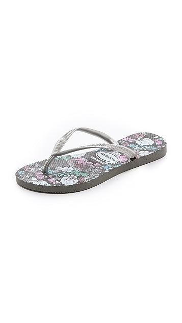 Havaianas Slim Floral Flip Flops