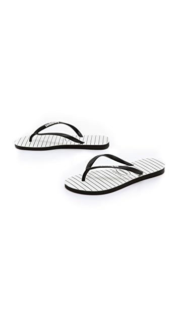 Havaianas Slim Pinstripe Flip Flops