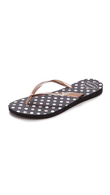Havaianas Slim Fresh Polka Dot Flip Flops