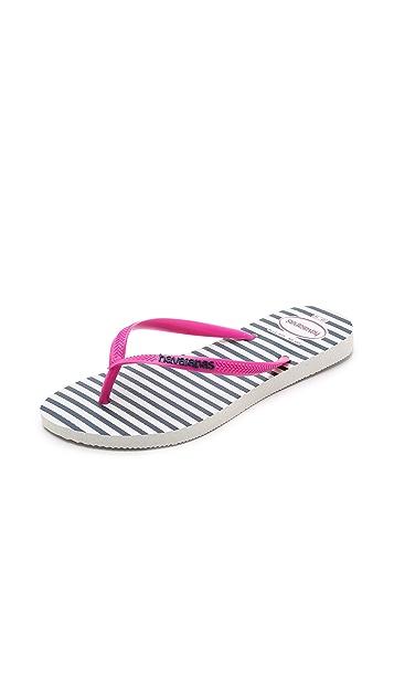 ed5080407295c2 Havaianas Slim Retro Stripe Flip Flops