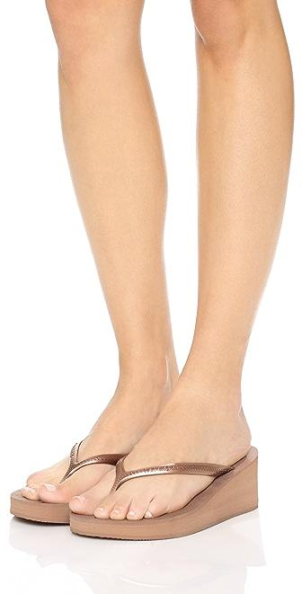 Havaianas Womens High Fashion Flip Flop Sandal 6 M US Black