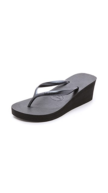 Havaianas High Fashion Wedge Flip Flops
