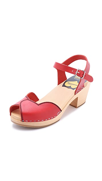c0b14070a07a Swedish Hasbeens Heart High Sandals