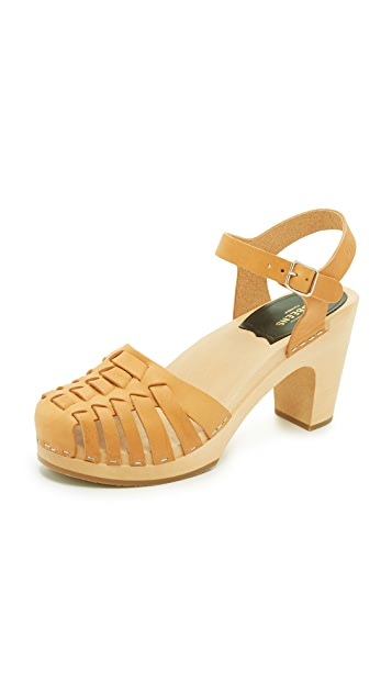 Swedish Hasbeens Snake Sandals