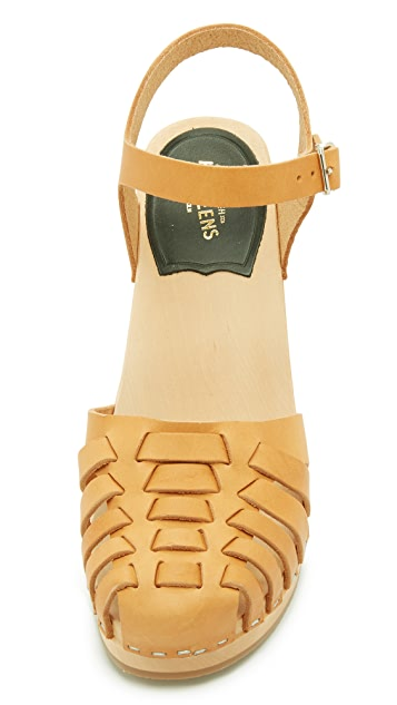 Swedish Hasbeens Snake Sandals