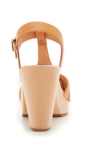 Swedish Hasbeens Lisa-Lott T-Strap Clogs