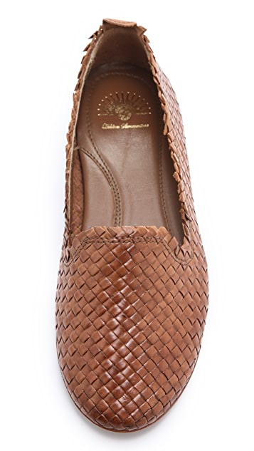 Hudson London Pyrenees Woven Leather Flats
