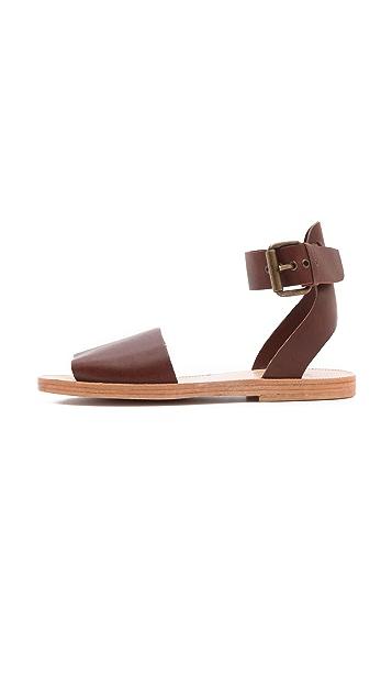 Hudson London Soller Ankle Strap Flat Sandals