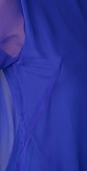 Heather Long Sleeve Chiffon Romper