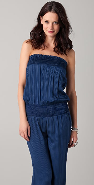 Heather Shirred Jumpsuit