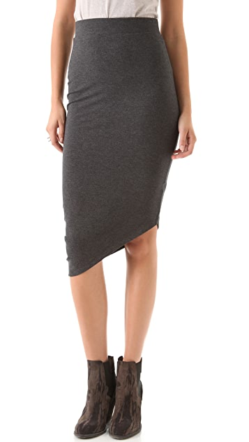 Heather Asymmetrical Drape Skirt