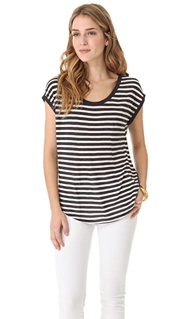 Heather Stripe Tee