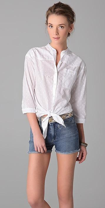 M.i.h Jeans Francoise Tie Front Shirt