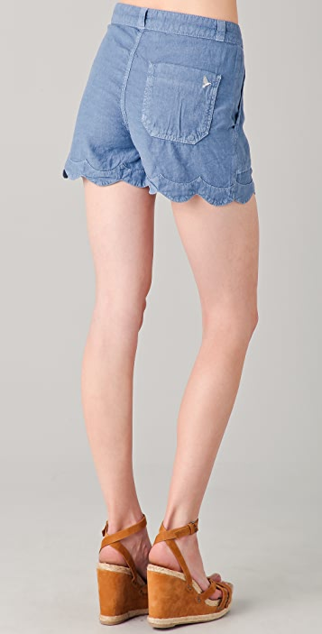 M.i.h Jeans Scallop Shorts