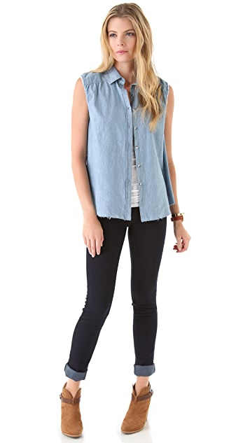 M.i.h Jeans Slim Trapeze Sleeveless Shirt