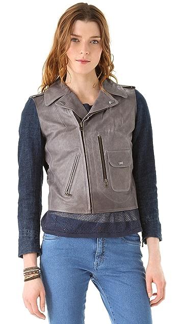 M.i.h Jeans Leather Pistol Pocket Biker Jacket