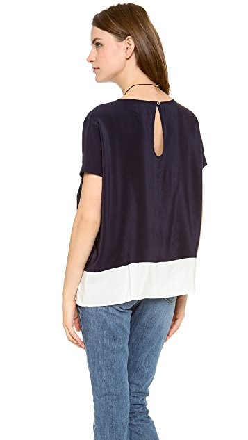 M.i.h Jeans The Boxy Colorblock Top