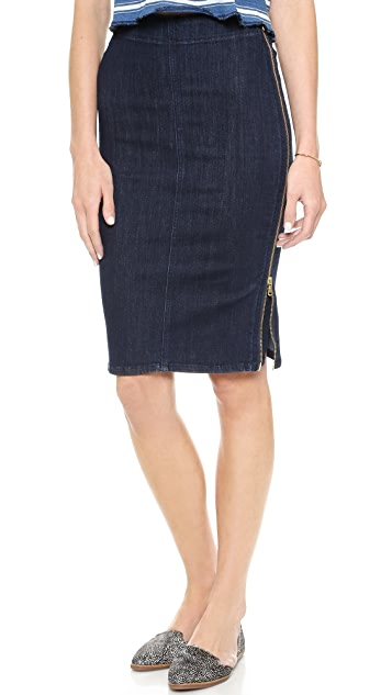 M.i.h Jeans The Body Con Zipper Skirt