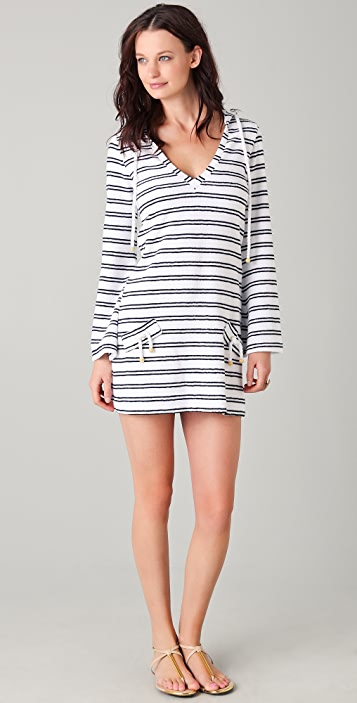 Heidi Klein Terry Hooded Cover Up Dress