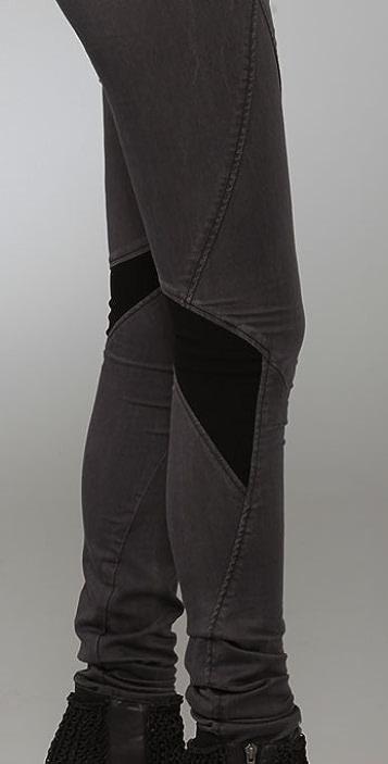 Helmut Lang Denim Smoke Wash Grey Combo Jeans