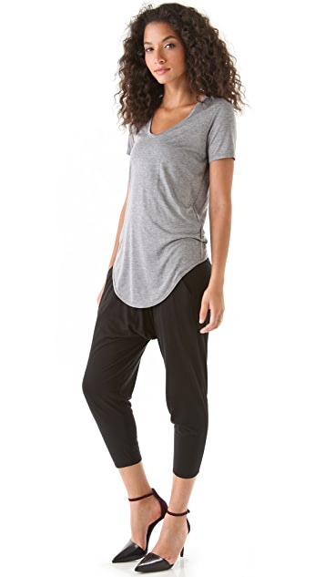 HELMUT Helmut Lang Kinetic Jersey Scoop Neck Tee