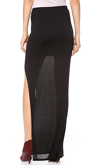 HELMUT Helmut Lang Kinetic Side Slit Maxi Skirt