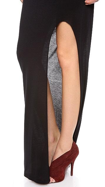 HELMUT Helmut Lang Kinetic Side Slit Maxi Skirt