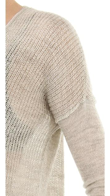 HELMUT Helmut Lang Marled Alpaca Pullover