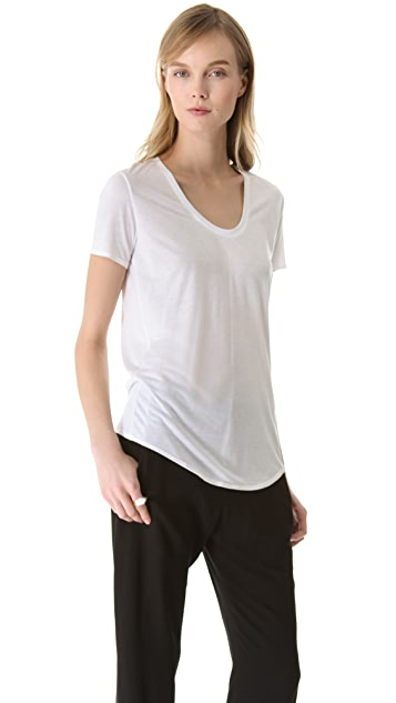 HELMUT Helmut Lang Scoop Neck Tee