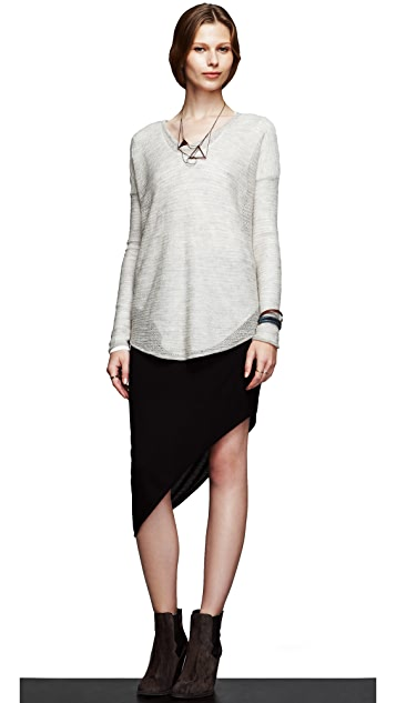 HELMUT Helmut Lang Kinetic Jersey Long Sleeve Tee