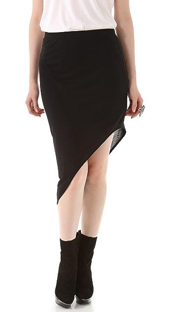 HELMUT Helmut Lang Kinetic Jersey Angle Skirt