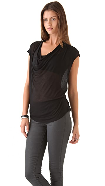 HELMUT Helmut Lang Voltage Rib Drop Neck Shirt