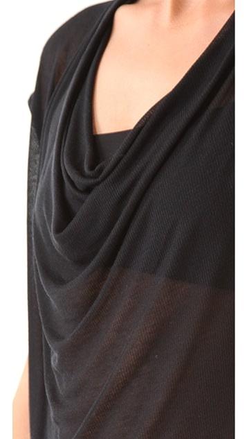 HELMUT Helmut Lang Voltage Rib Drop Neck Shirt