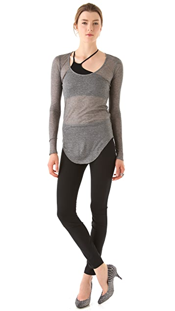 HELMUT Helmut Lang Long Sleeve Voltage Rib Tee