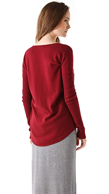 HELMUT Helmut Lang Soft Wool Asymmetrical Top