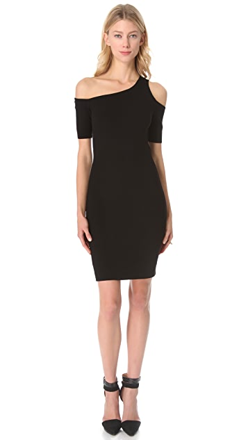 HELMUT Helmut Lang Gala One Shoulder Dress