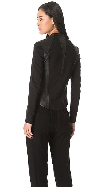 HELMUT Helmut Lang Washed Leather Jacket