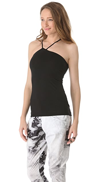 HELMUT Helmut Lang Asymmetrical Low Neck Tank
