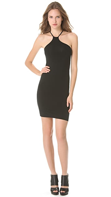 HELMUT Helmut Lang Asymmetrical Halter Dress