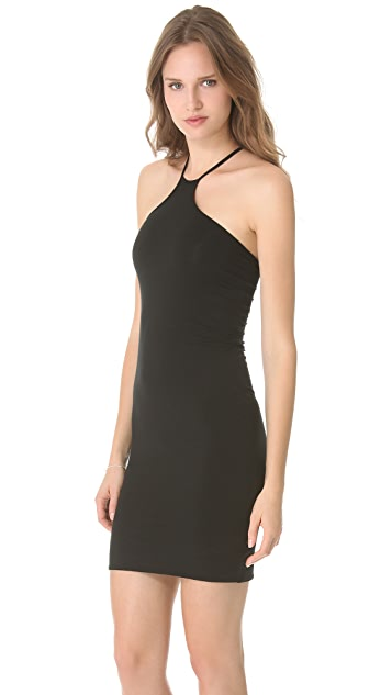 HELMUT Helmut Lang Asymmetrical Halter Dress