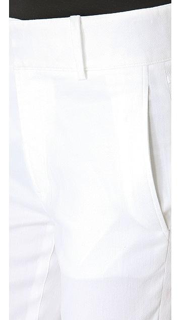 HELMUT Helmut Lang Linen Slub Twill Cropped Pants