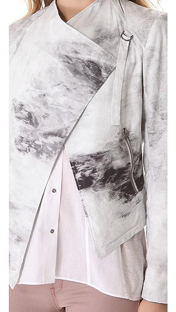 HELMUT Helmut Lang Smudge Print Poplin Jacket
