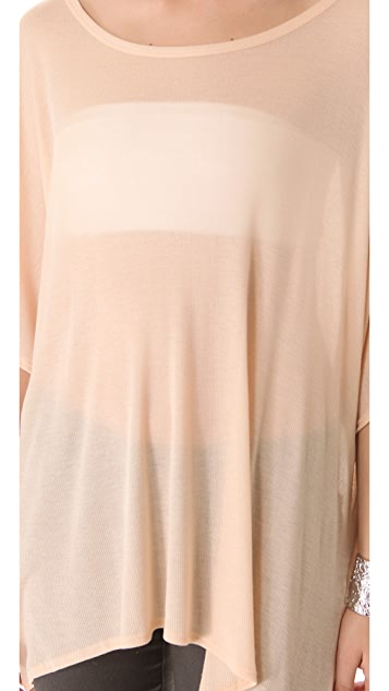 HELMUT Helmut Lang Voltage Rib Wide Tee