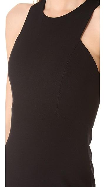 HELMUT Helmut Lang Form Knit Asymmetrical Dress