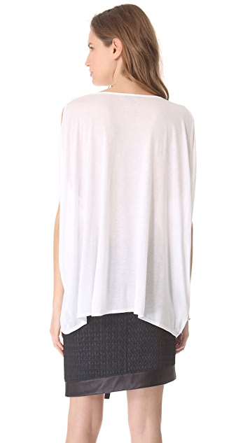 HELMUT Helmut Lang Side Gathered Tee